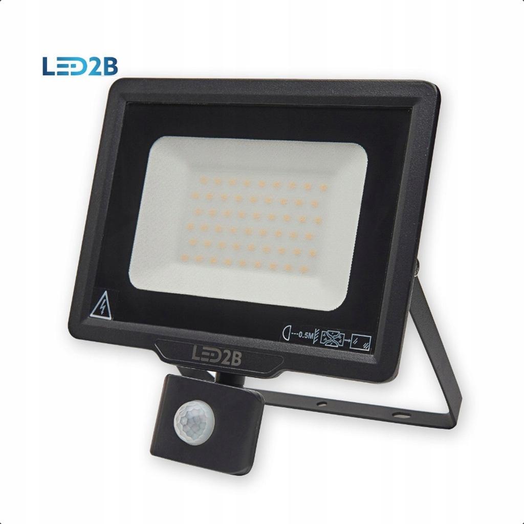 Naświetlacz LED MHC czujnik ruchu 50W Czarny 3000K