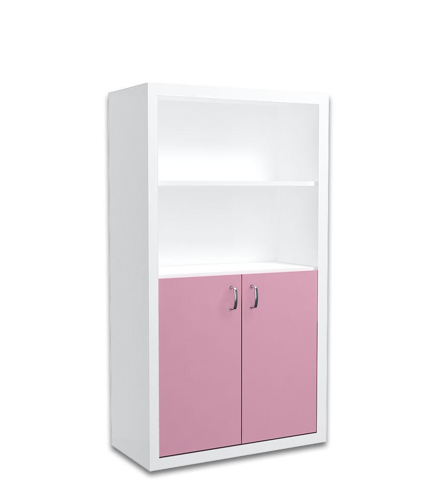 Regał 90cm dla dziecka w kolorze biało-różowym