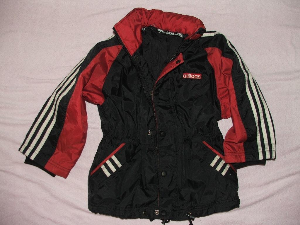 ADIDAS kurtka na zimę, wiosnę z kapturem 116