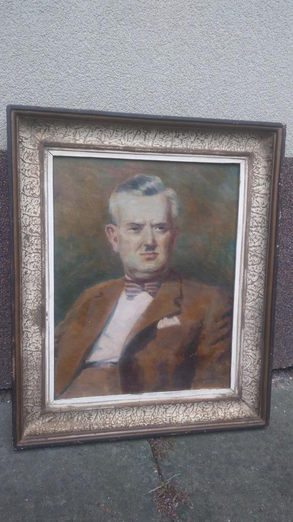 Portret krakowskiego aktora-Ant. Bartkowski-olej