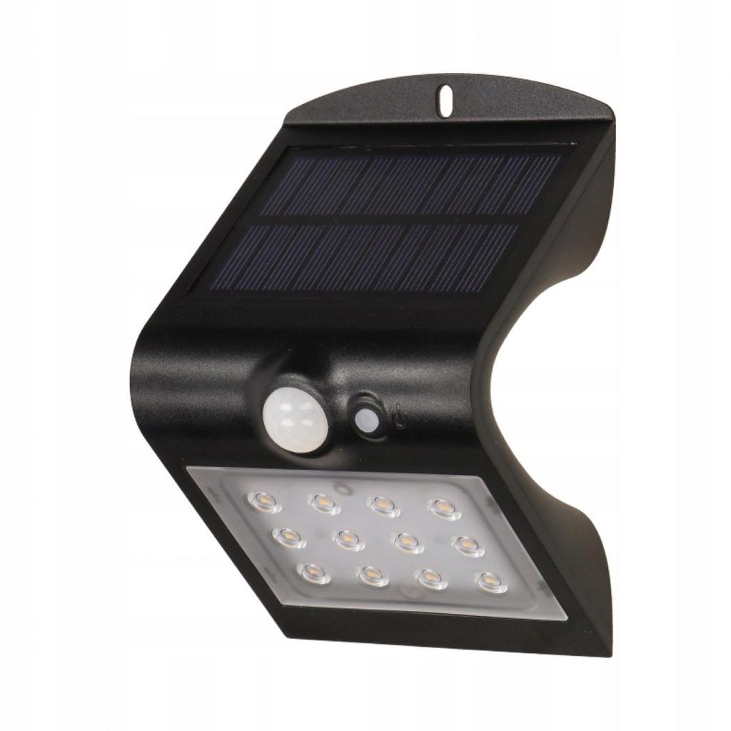 Lampa ogrodowa, solarna SILOE LED, czarna