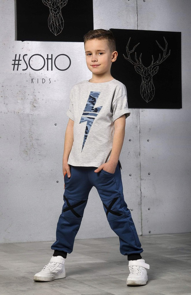 Komplet T-shirt spodnie Kid's by Voga SOHO 134/140