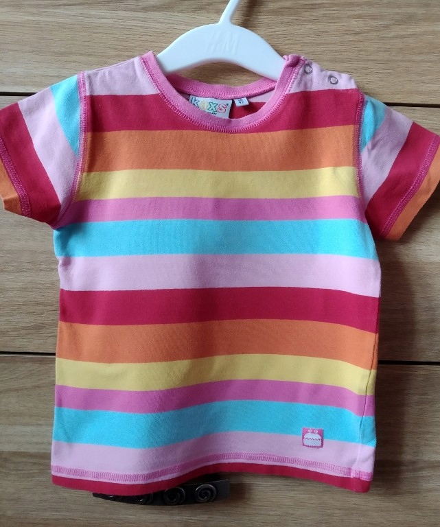 KappAhl kolorowy t-shirt r.86/92