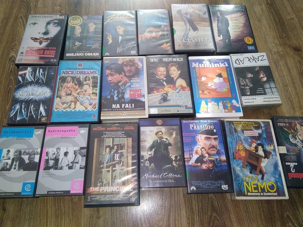 Zestaw starych filmów cz 2na kasetach vhs
