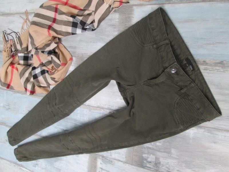 NEXT__skinny spodnie RURKI khaki__38