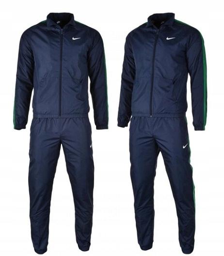 Dres sportowy Nike granatowo-zielony - rozmiar L