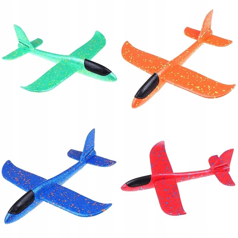 Samolot styropianowy,szybowiec do rzucania zielony