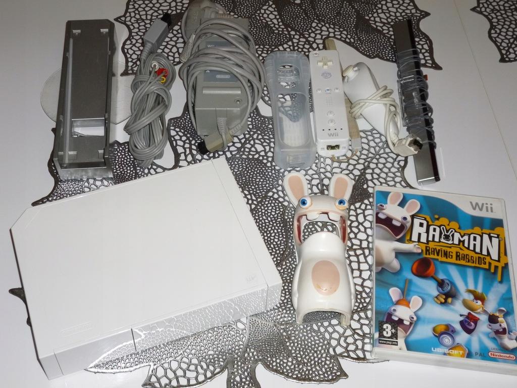 Konsola Nintendo Wii Rayman biała gra pady tanio