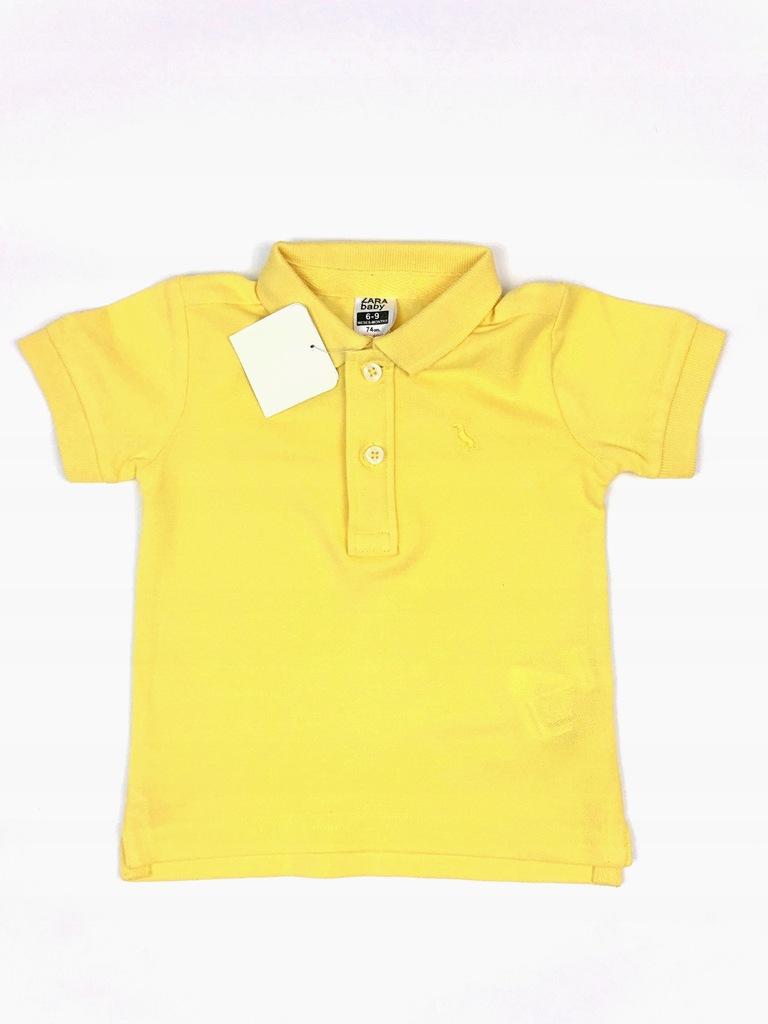 Koszulka polo, Zara, Żółty, 74