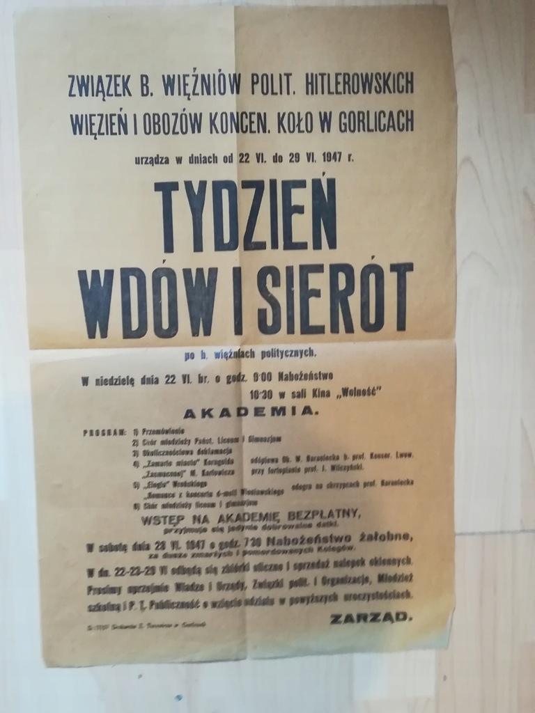 'TYDZIEŃ WDÓW I SIEROT' GORLICE 1947 r.