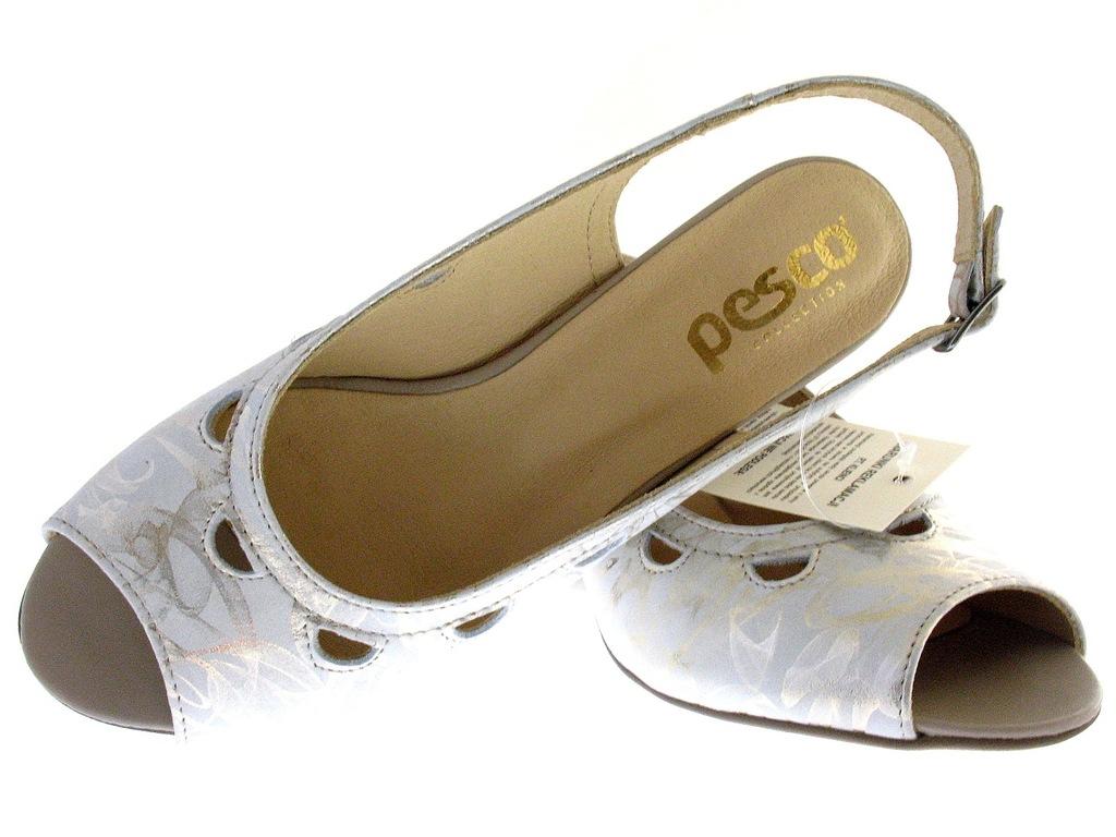 SKÓRZANE sandały DAMSKIE obuwie POLSKIE PESCO 41 G