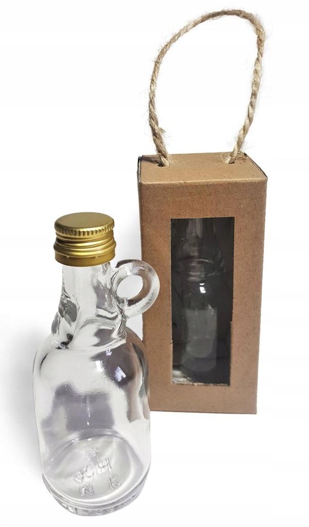 Pudełko + BUTELKA na alkohol podziękowanie weselne