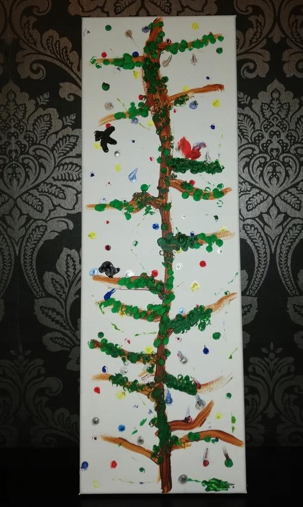 """Obraz """"Święta w lesie"""" akryl na płótnie"""