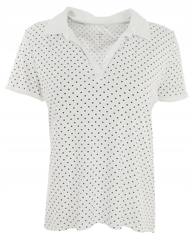 kZZ0566 C&A koszulka polo w groszki 44