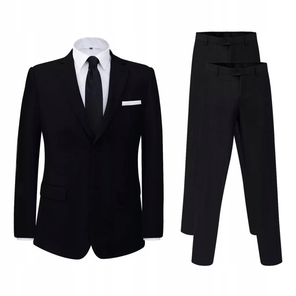 Garnitur z dodatkowymi spodniami czarny rozm. 48