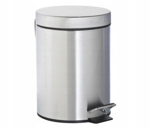Kubełek śmietnik pedał 3l łazienka biuro chrom