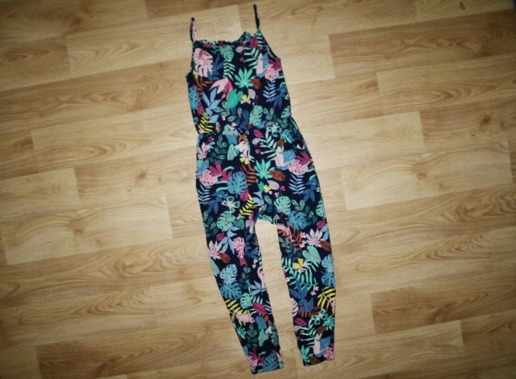 H&M śliczne spodnium w KWIATKI 122-128