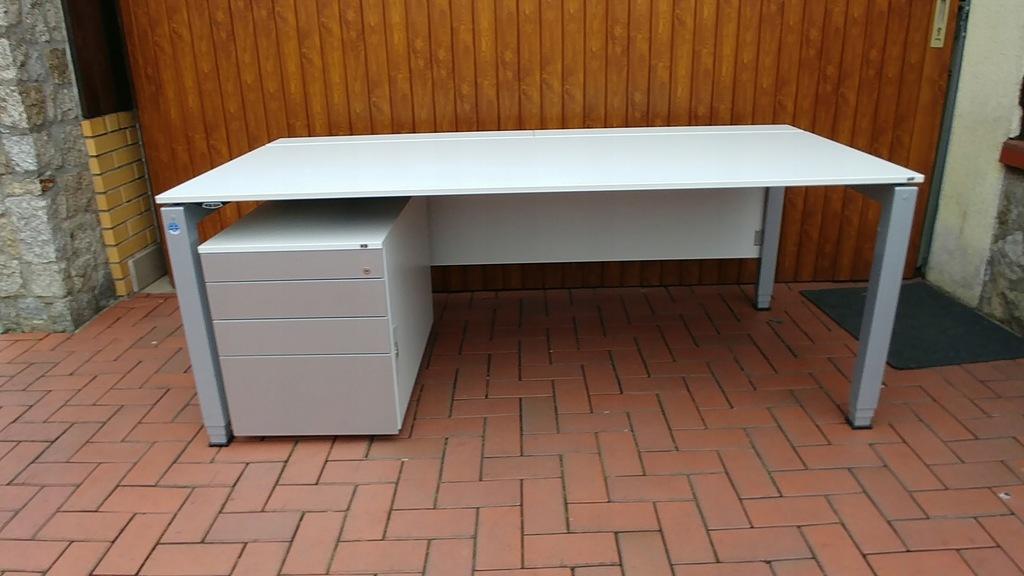 Zestaw biurko VS elektryk reg.wys.+organizer VS
