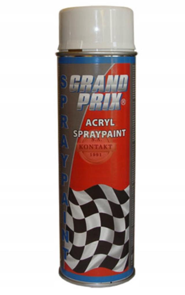 Lakier samochodowy GRAND PRIX 500ml biały mat