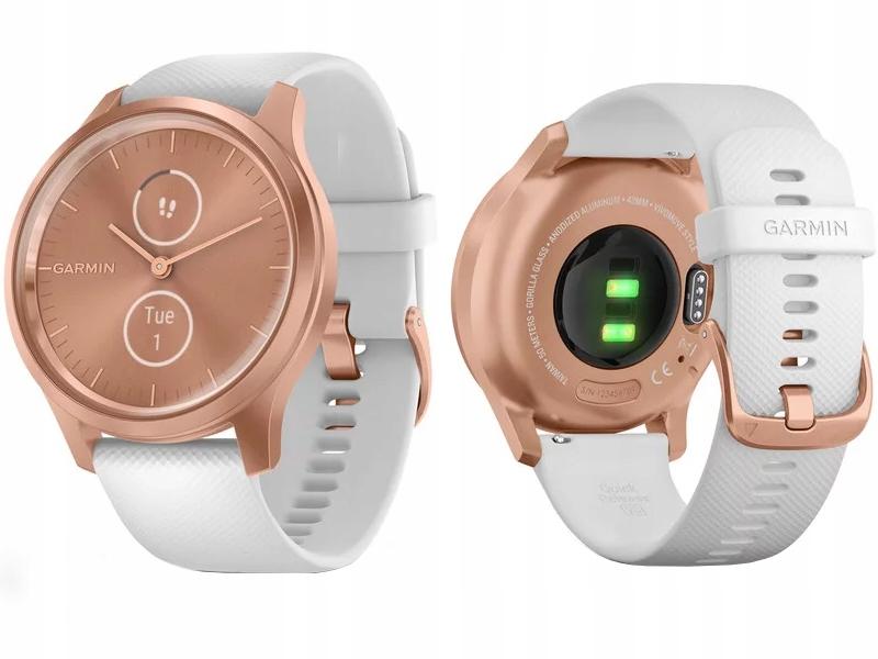 Garmin VIVOMOVE STYLE Biało-złoty Smartwatch