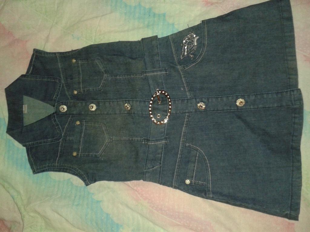 Sukienki 134/140 jeans ORYGINALNE, shorty