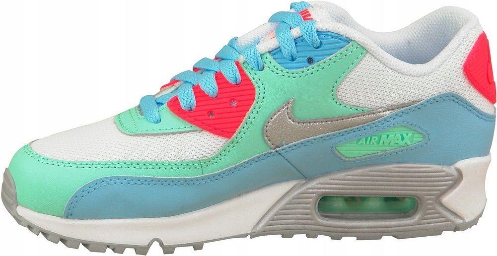 Nike Buty damskie Air Max 90 Gs 724855 100 biało z