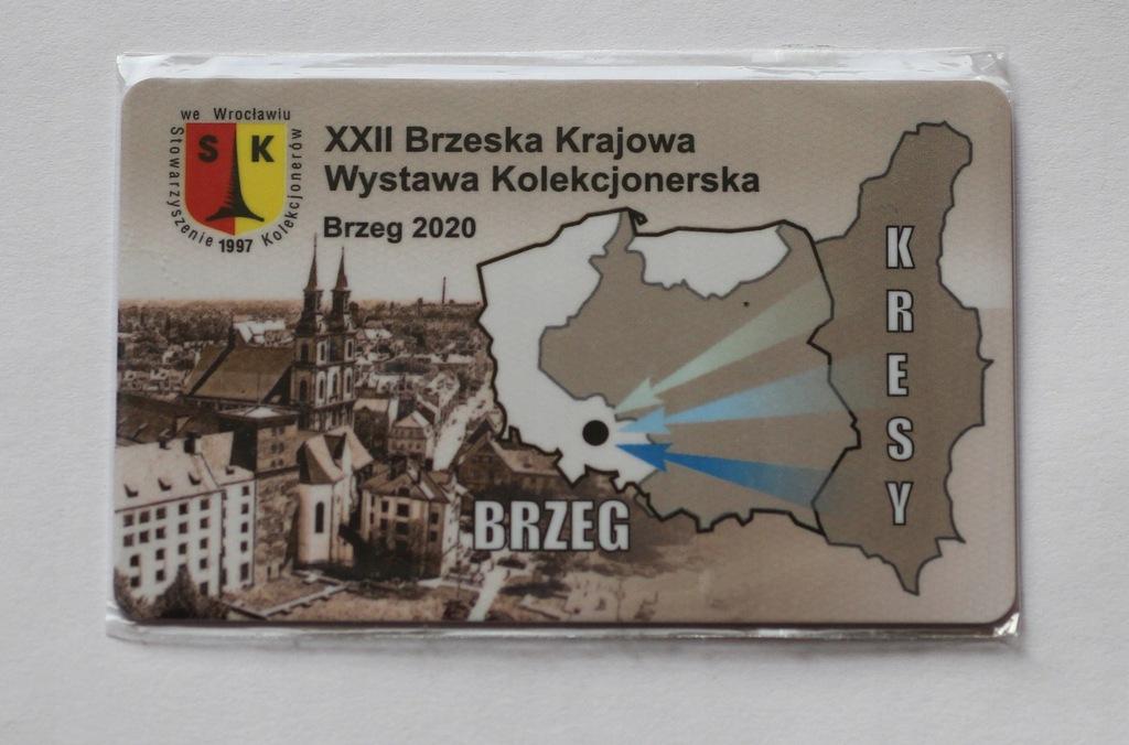Karta XXII Brzeska Krajowa Wystawa Kole 2020 Brzeg