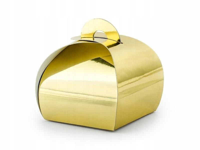 Pudełeczka, złoty, 6x6x5,5cm (1 op. / 10 szt.)