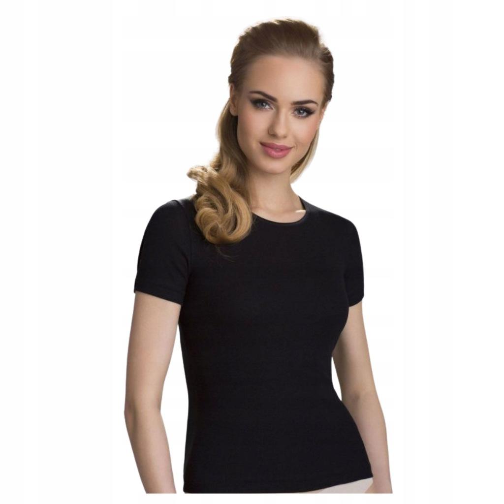 Koszulka Top Klasyczny Eldar Bawełna Czarny S