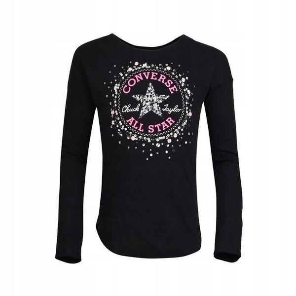 Koszulka z długim rękawem Converse 6847S-023 Czarn