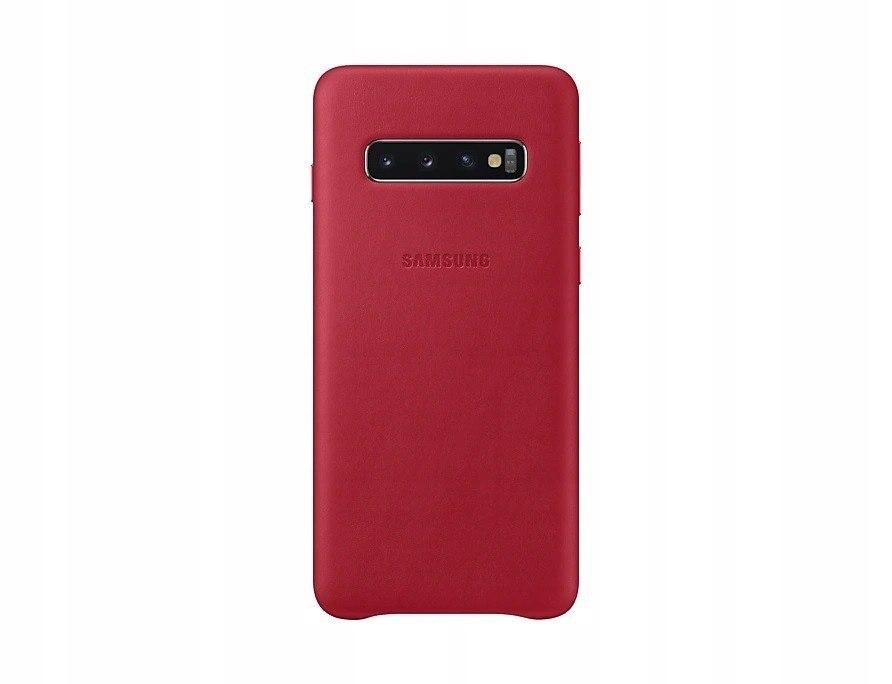 Etui Leather Cover Galaxy S10 Czerwony