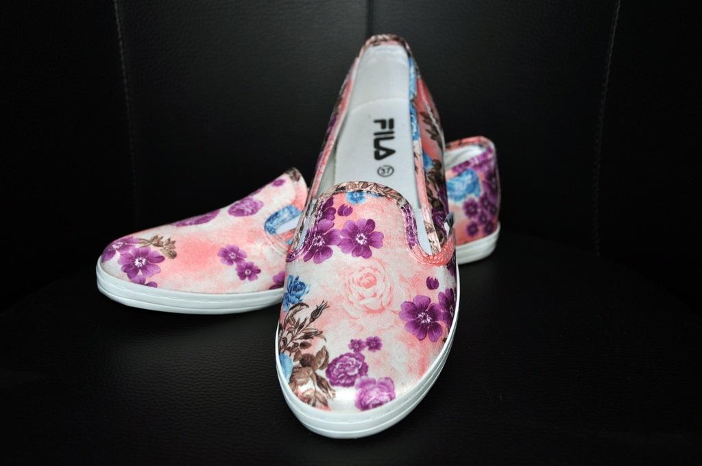 Buty Fila wsuwane kwiaty 37