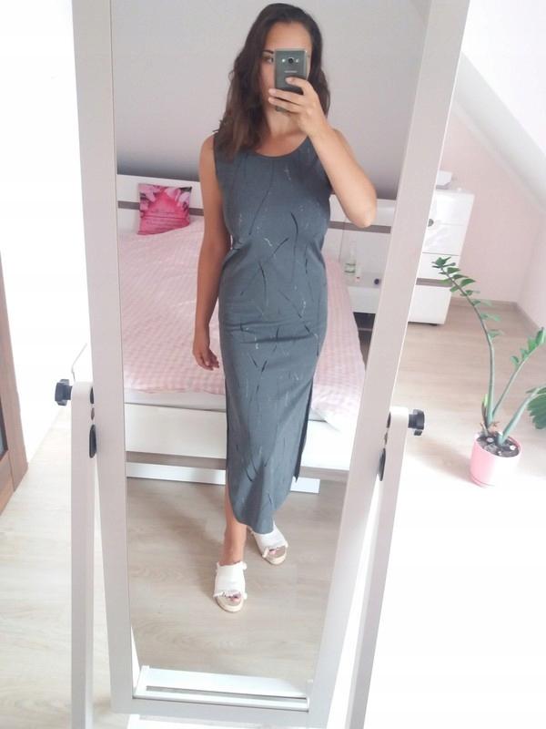 Sukienka maxi HM nowa M rozcięcia nowa