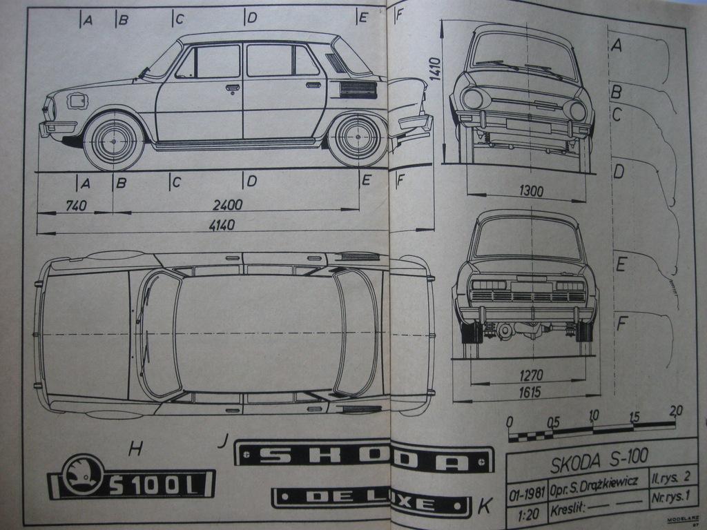 MODELARZ Skoda S-110 Plan 1986