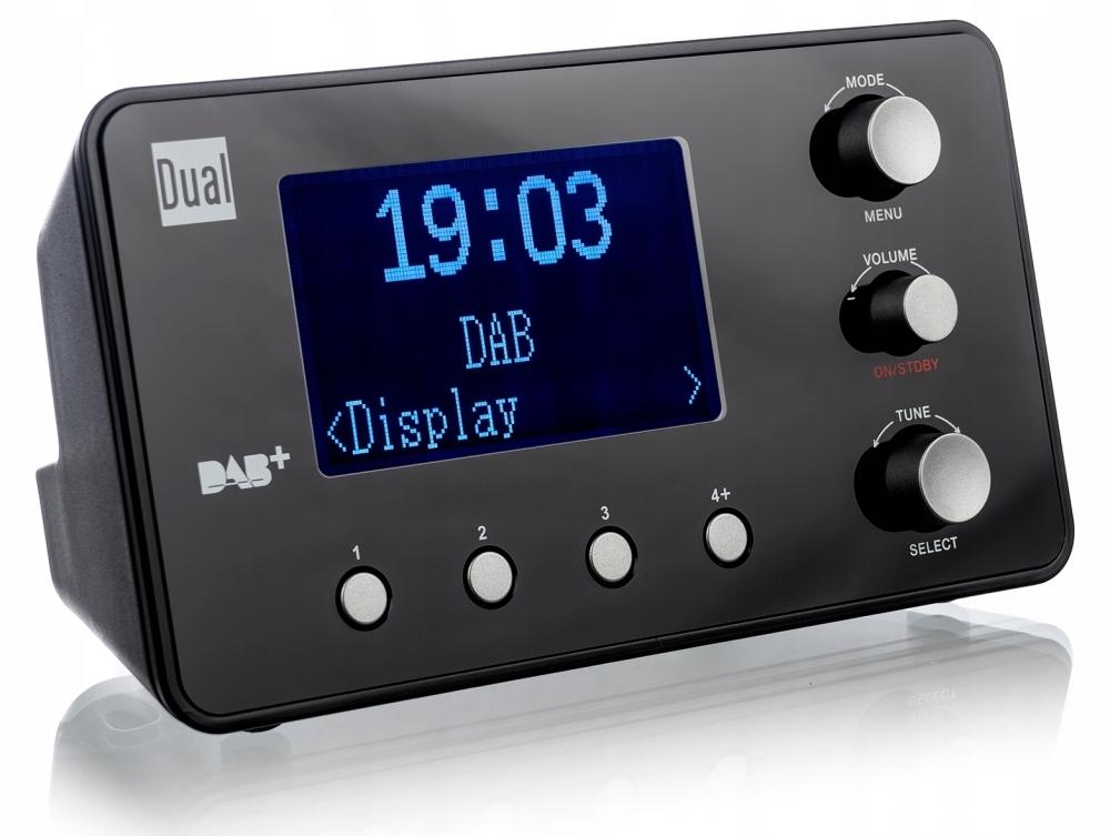 Dual CR 25.1 DAB+ Radiobudzik DAB+, UKW czarny