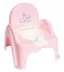 nocnik krzesełko z pozytywką Króliczki j.różowy