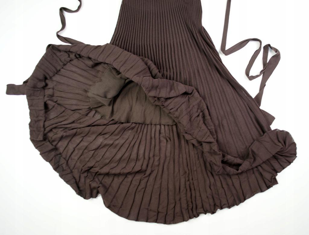 plisowana sukienka kloszowana Reserved r.S glamour