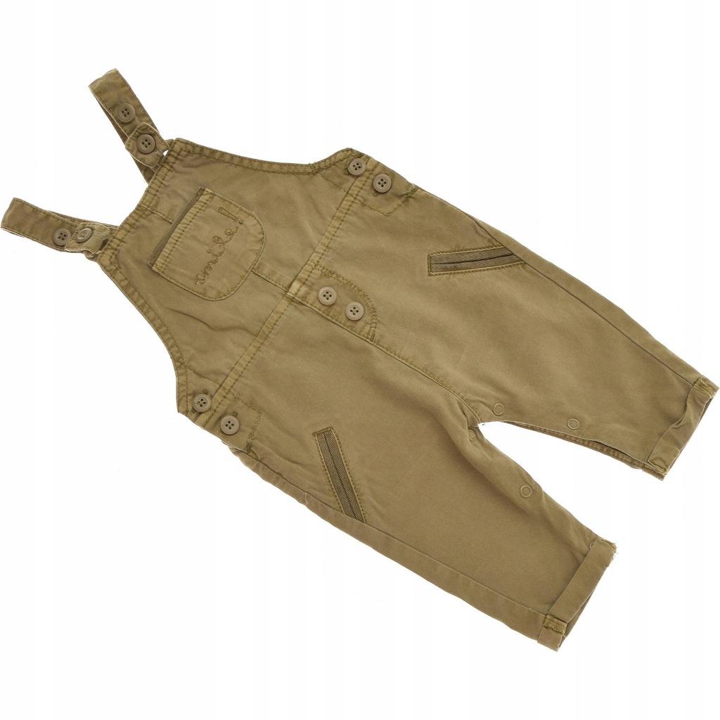 NEXT spodnie chłopięce ogrodniczki Khaki 68