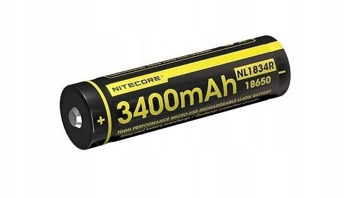 Akumulator Nitecore 18650 Micro USB NL1834R 3400mA