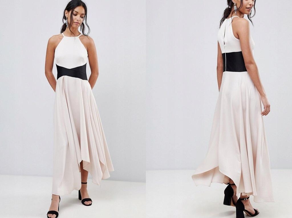 Coast Asymetryczna Sukienka Maxi M/38