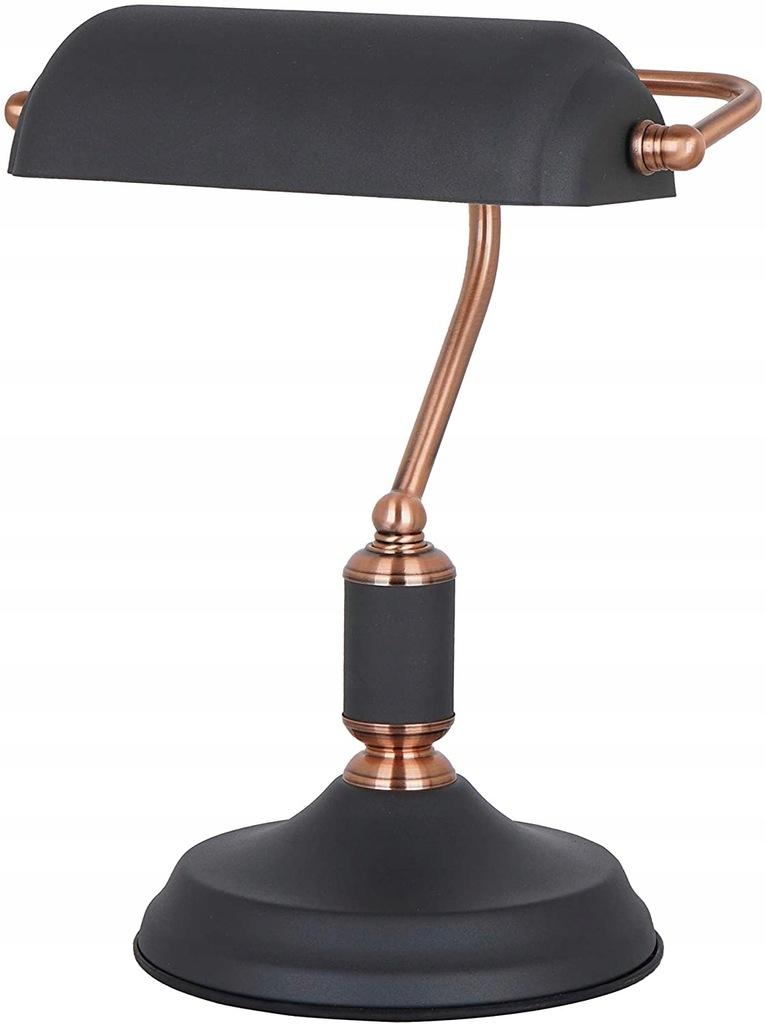 Designerska lampa stołowa, 9 W, czarna
