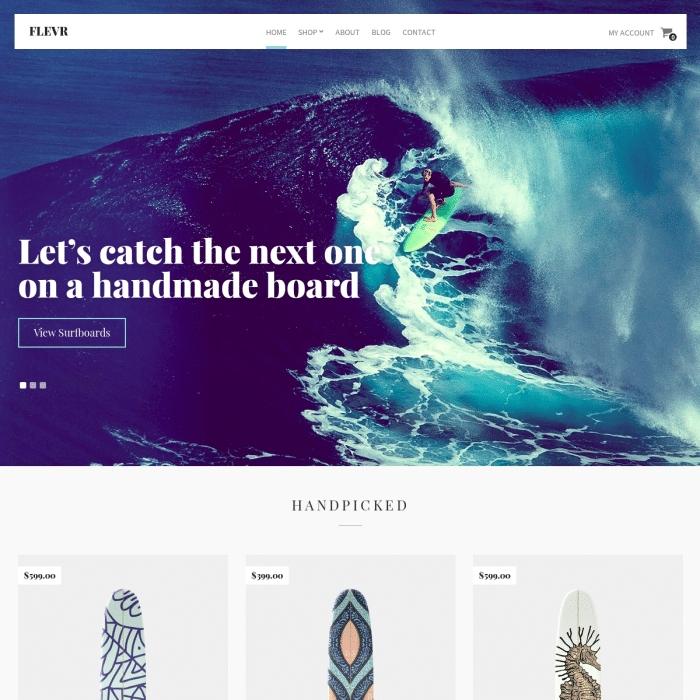 Szablon Flevr Business eCommerce WordPress Theme