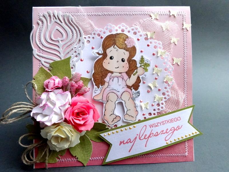 Kartka na urodziny 2, ręcznie wykonana, imieniny