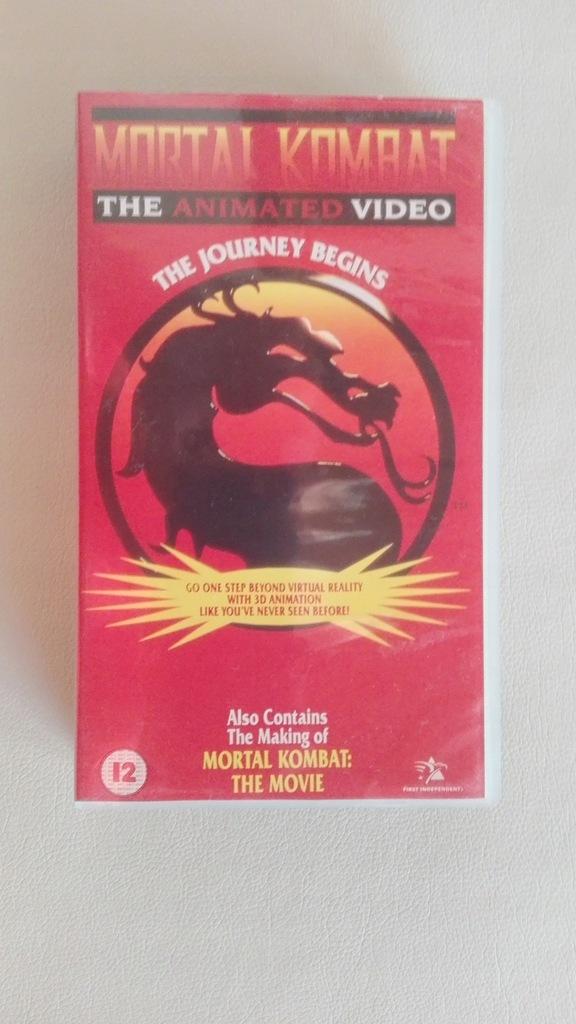 Mortal Kombat The Journey Begins VHS Kaseta 1995