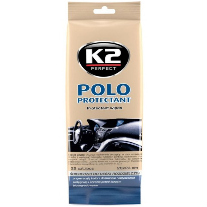 K2 POLO Chusteczki do Kokpitu Plastików Wnętrza