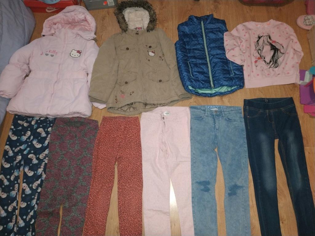 Zestaw ubrań zimowych dla dziewczynki, kurtki r128
