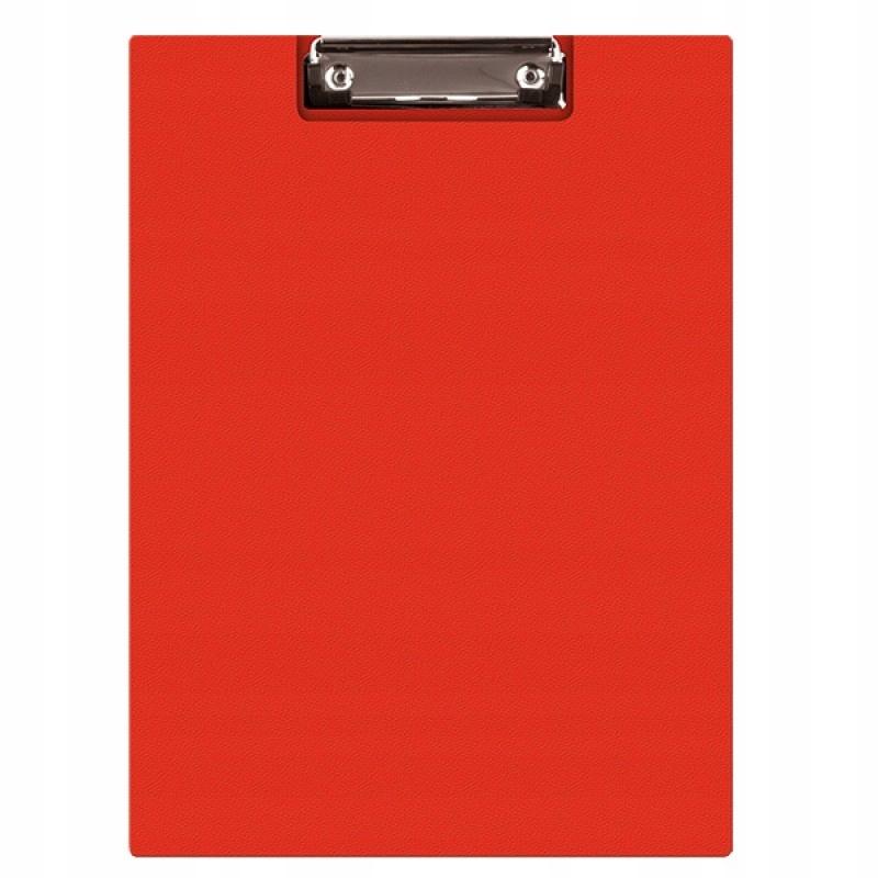 Clipboard teczka PVC A5 czerwony podkład z klipem