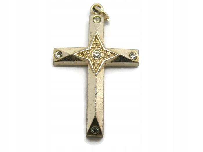 Piękny medalik krzyż ! nr 60