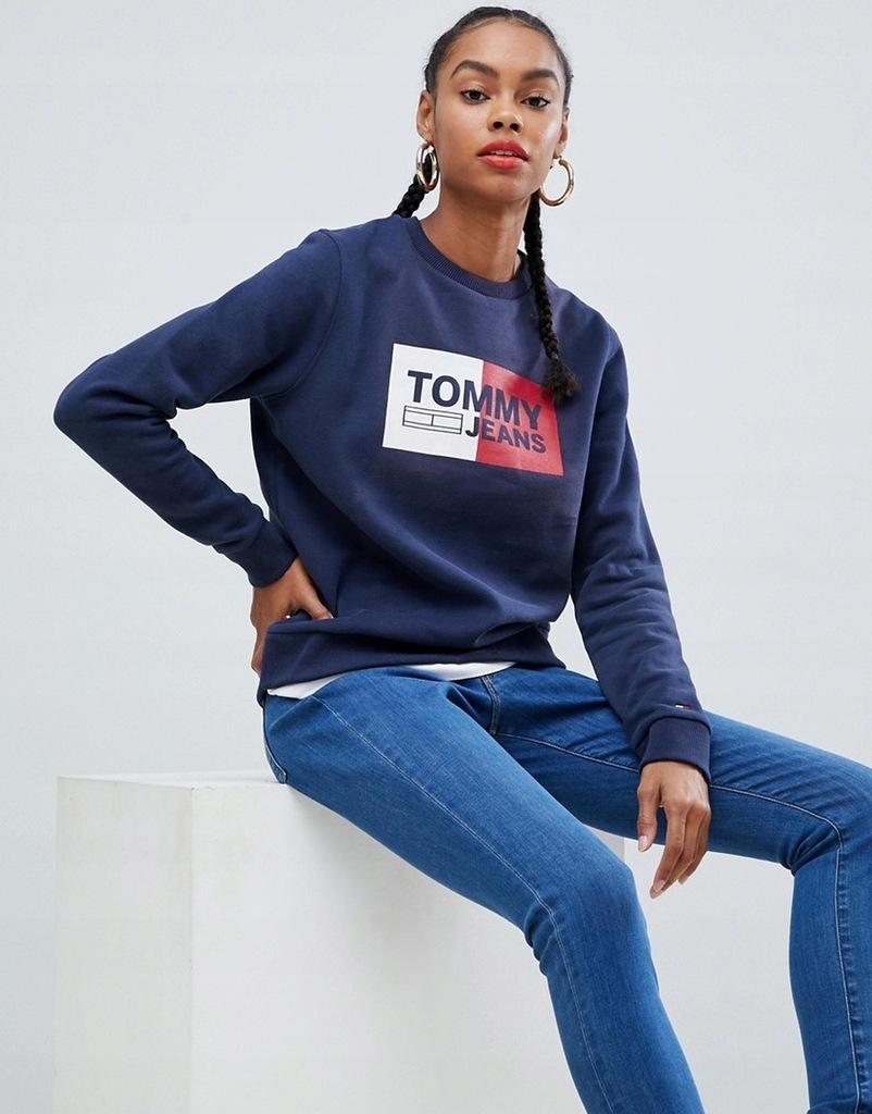 Tommy Jeans granatowa bluza z logo XS/34
