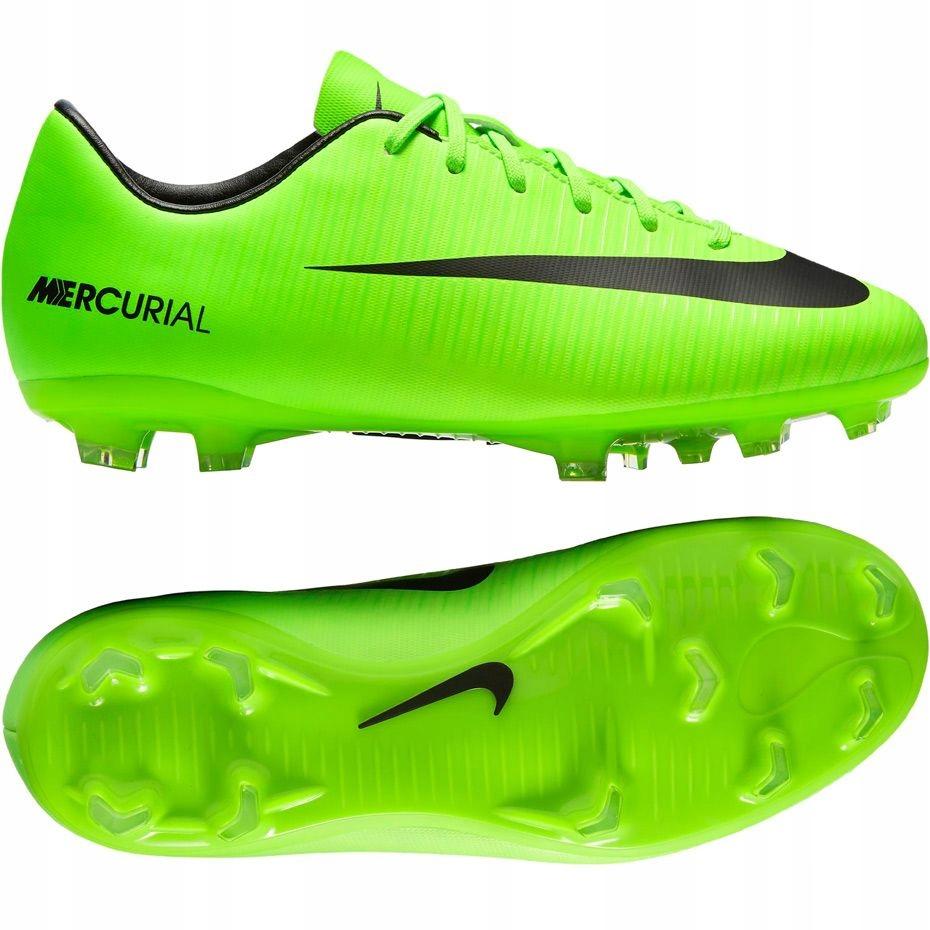 Buty Piłkarskie Korki Nike Mercurial Victory VI FG JR 831945 801 Korki Obuwie Piłka nożna Sporty drużynowe